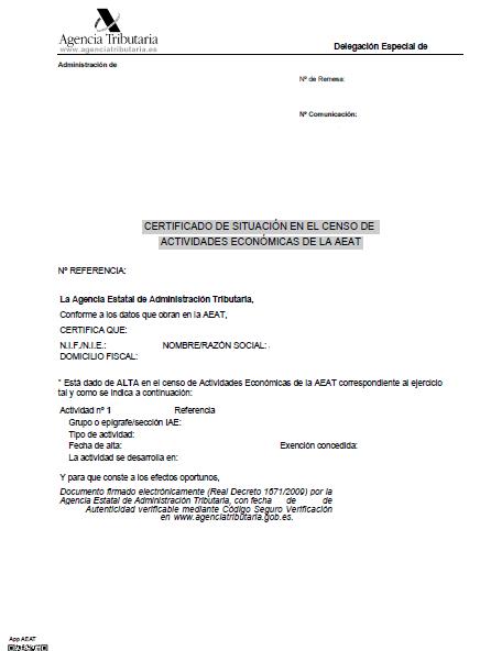 certificado IAE